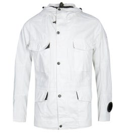 CP Company Plated Linen White Millie Jacket