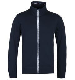 Paul & Shark Navy Cool Touch Full Zip Cardigan