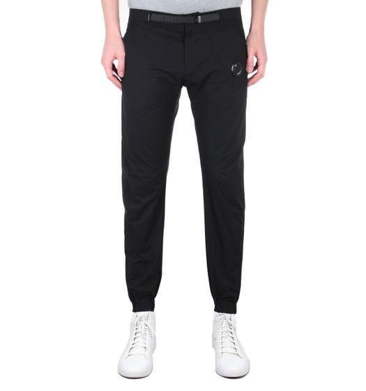 CP Company Black Soft Shell Lens Trousers
