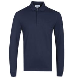 Lacoste Paris Long Sleeve Navy Polo Shirt