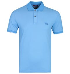 CP Company Blue Tacting Tipped Polo Shirt