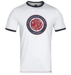Pretty Green Like-Minded Logo White T-Shirt