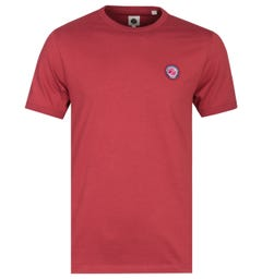 Pretty Green Likeminded Crew Neck Red T-Shirt