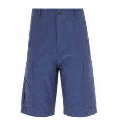 Pretty Green Cargo Metallic Navy Shorts