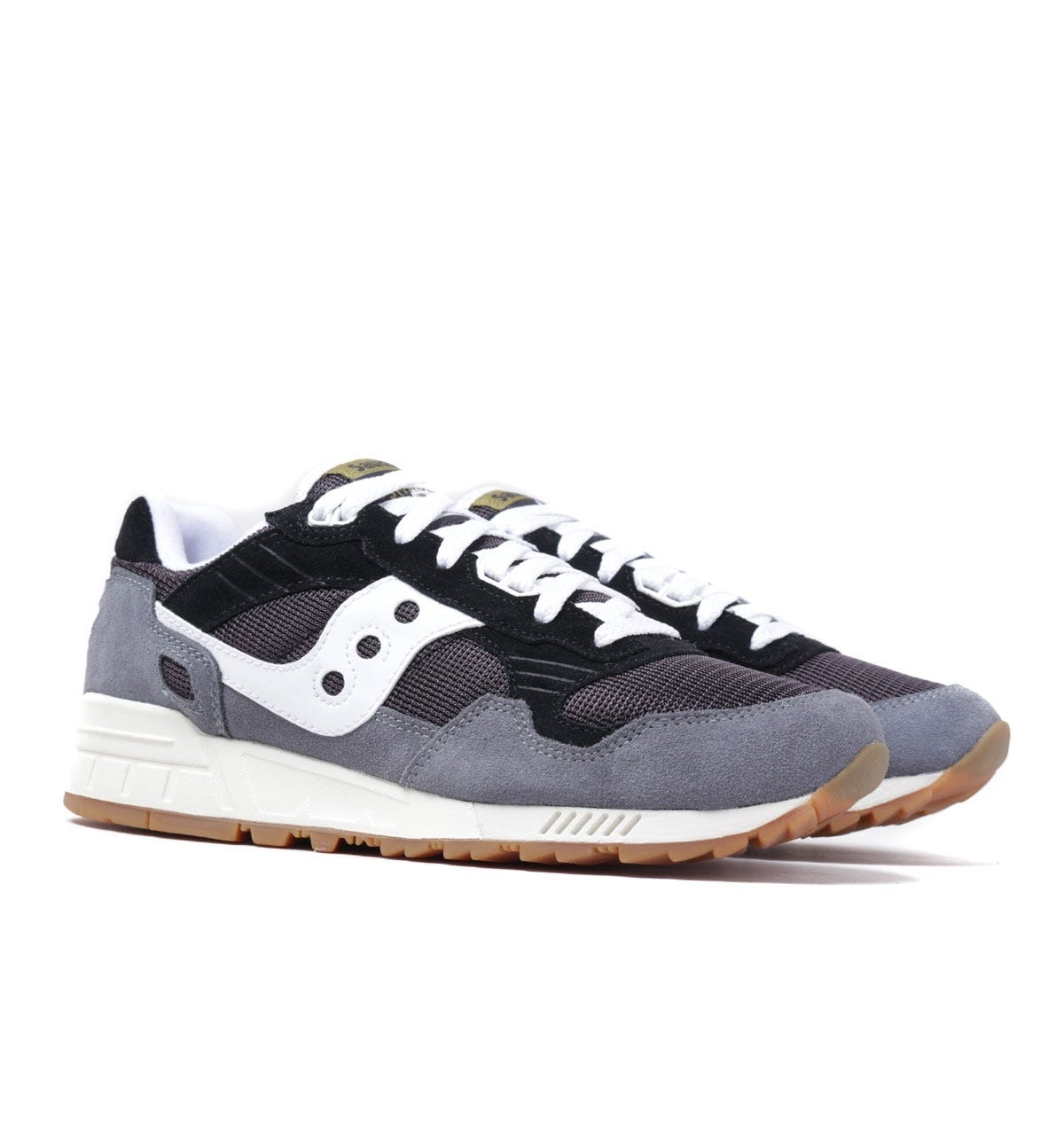 gruppo Isolante minore  Saucony Shadow 5000 Navy & Grey Suede Trainers