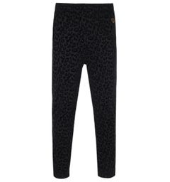 Fred Perry X Miles Kane Leopard Print Black Sweatpants