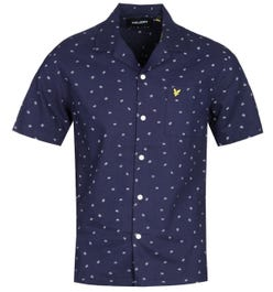 Lyle & Scott Resort Print Short Sleeve Navy Shirt