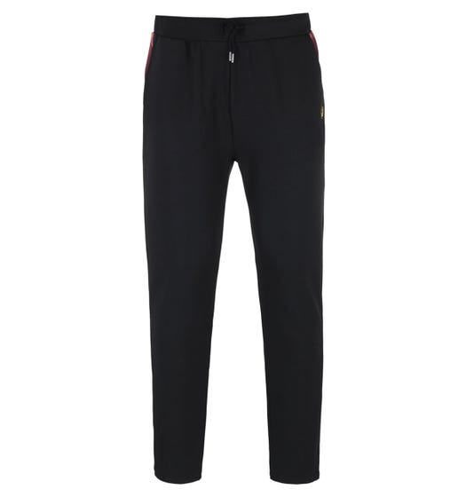 Fred Perry Taped Black Track Pants