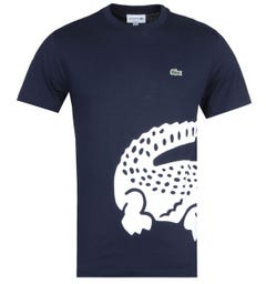 Lacoste Alligator Print Navy T-Shirt
