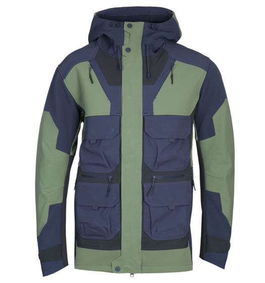 7L 411 Wind Layer Navy & Green Parka Jacket