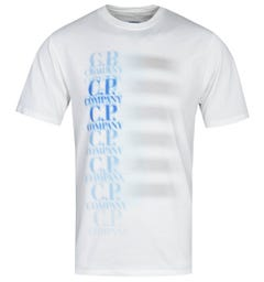 CP Company Contrast Logo White T-Shirt