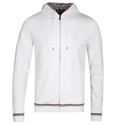 Aquascutum Silverstone White Zip-Through Hoodie