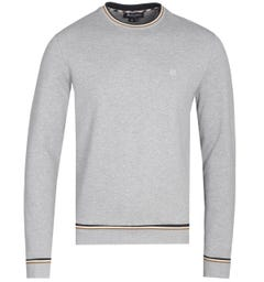 Aquascutum Wallace Crew Neck Grey Melange Sweatshirt