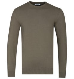 Replay Hyperflex Military Green Knitted Sweater