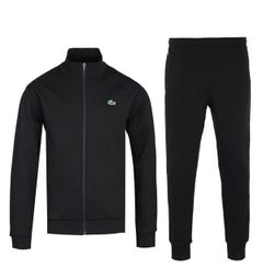 Lacoste Funnel Neck Black Tracksuit