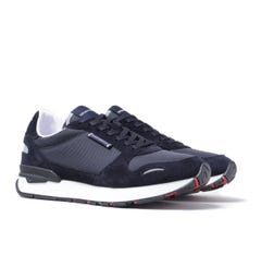 Emporio Armani Small Tab Navy Runner Trainers