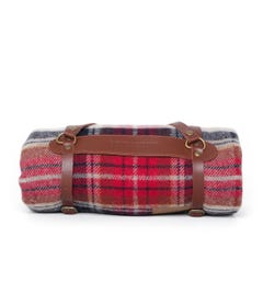 Pendleton Mr Vintage Large Red Check Woollen Throw