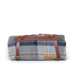 Pendleton Mosier Navy Check Woollen Throw