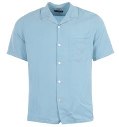 Portuguese Flannel Dogtown Short Sleeve Shirt - Light Blue