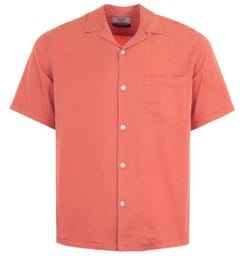 Portuguese Flannel Dogtown Short Sleeve Shirt - Pastel Pink