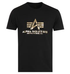 Alpha Industries Foil Print T-Shirt - Black