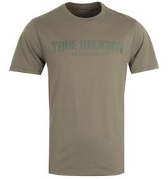 True Religion Arch Logo Olive T-Shirt