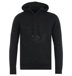True Religion Buddha Embroidery Black Hooded Sweatshirt