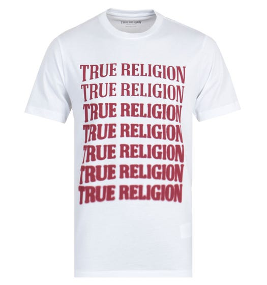 True Religion Descending Arch White T-Shirt