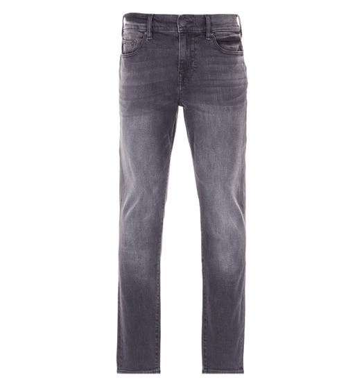 True Religion Rocco Relaxed Skinny Jeans - Midnight Black Wash