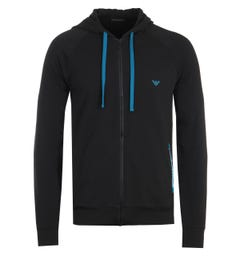Emporio Armani Loungewear Zip Hooded Sweatshirt - Black