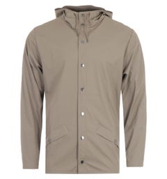 Rains Hooded Jacket - Taupe