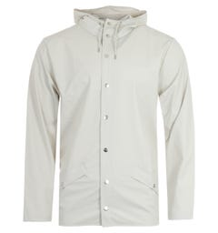 Rains Hooded Jacket - Off White