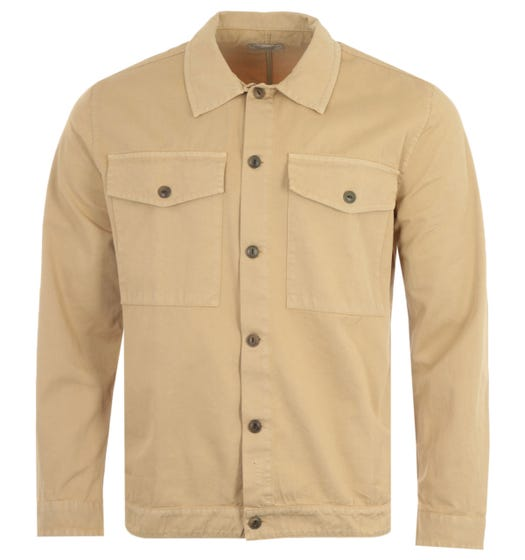 Nudie Jeans Co Colin Utility Overshirt - Oat