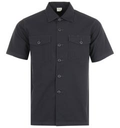 Maharishi Modified Utility Organic Cotton Short Sleeve Shirt - Black