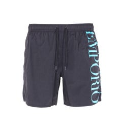 Emporio Armani Sustainable Black Swim Shorts