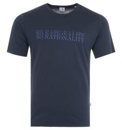 NN07 Arnold Print Sustainable Tencel Blend T-Shirt - Navy