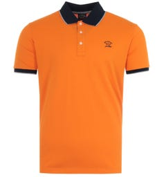 Paul & Shark Tipped Organic Cotton Polo Shirt - Orange