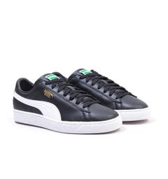 Puma Basket Classic XXI Leather Trainers - Black & White
