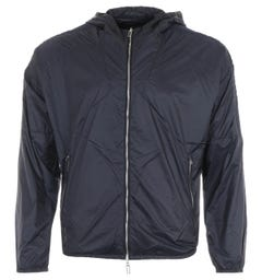 Emporio Armani Nylon Hooded Jacket - Navy