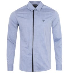Emporio Armani Jacquard Shirt - Light Blue