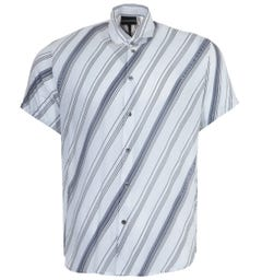 Emporio Armani Op Art Modal Short Sleeve Shirt - White
