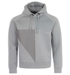 Emporio Armani Monochromatic Modal Hooded Sweatshirt - Grey