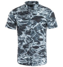Armani Exchange Printed Short Sleeve Shirt - Navy Water