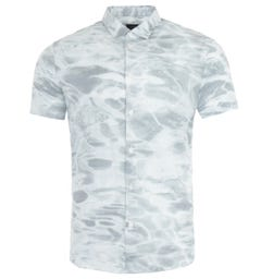 Armani Exchange Printed Short Sleeve Shirt - White Water