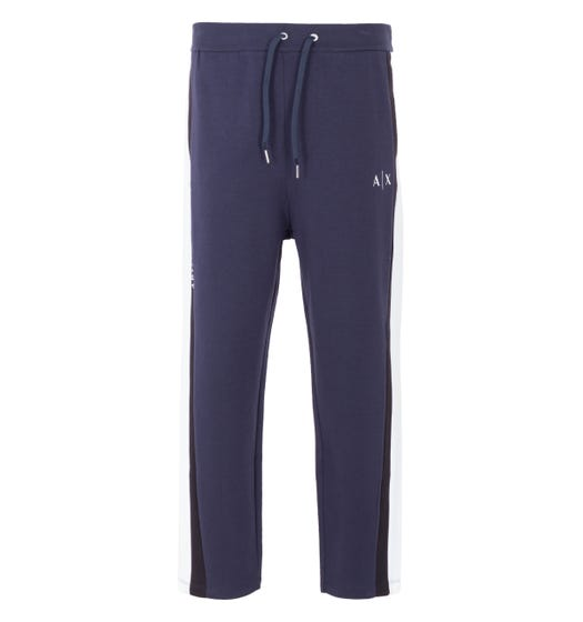 Armani Exchange Contrast Panelled Joggers - Navy