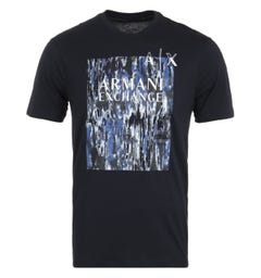 Armani Exchange Graphic Print T-Shirt - Navy