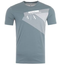 Armani Exchange Graphic Logo Slim Fit T-Shirt - Stormy Weather