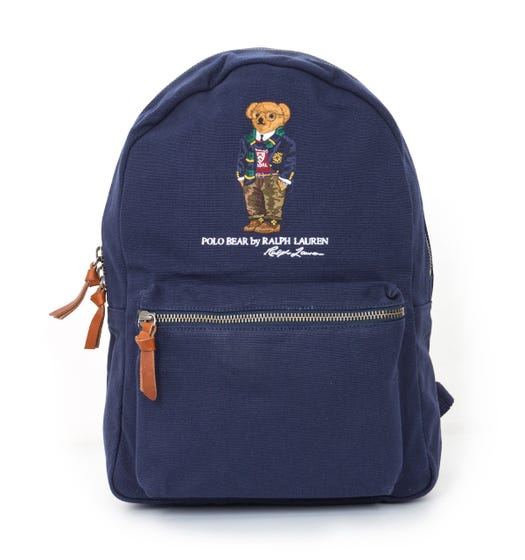 Polo Ralph Lauren Polo Bear Canvas Backpack - Dark Blue