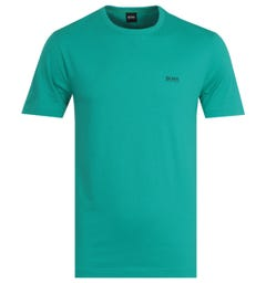 BOSS Tee Aqua Green Short Sleeve T-Shirt