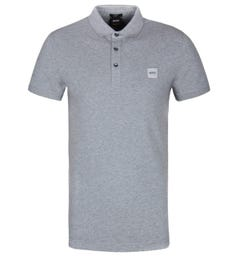 BOSS Passenger Slim Fit Polo Shirt - Light Grey